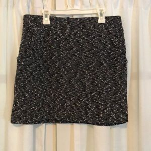 Black and Grey Mini Skirt